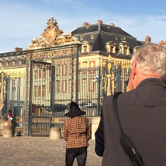 Versaille, France taking a photo of a friend taking a photo before walking into the castle Gorgeous Day Memories. Friendship Photojournalist-2016 EyeEm Awards