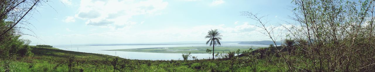 Congo River Panorama Water No People Day Beauty In Nature Sky Tree Nature Outdoors Rural Scene Scenics Panoramic Photography Maluku  DR Congo Congo River Congolese Journey Is The Destination River View Throwback