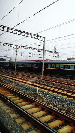 Rail Transportation Railroad Track Track Transportation Mode Of Transportation Sky Nature