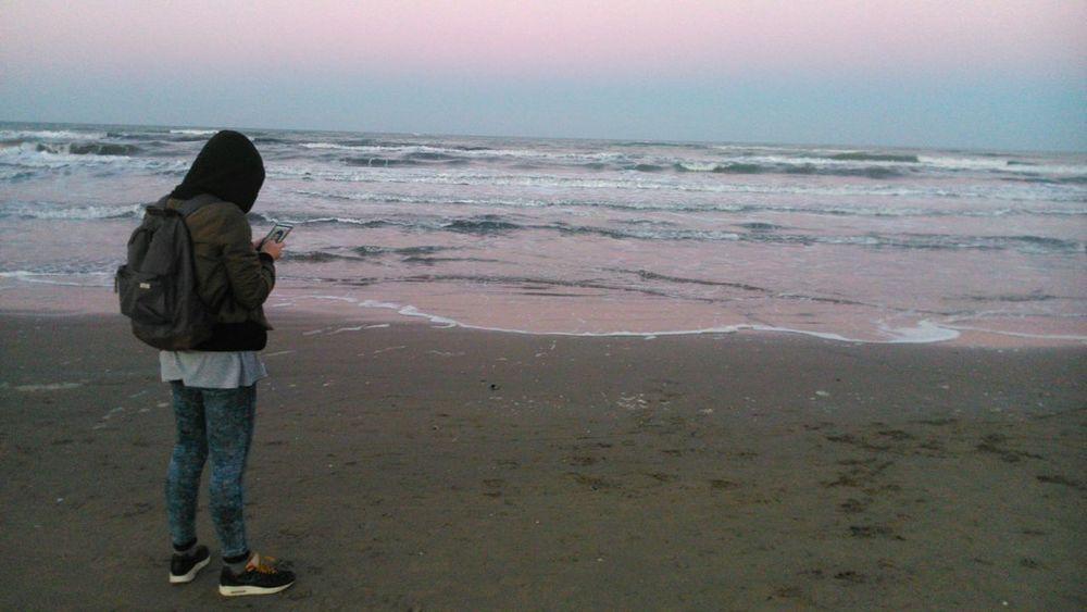 Rimini Italy Light And Shadow Beautiful Sea Seaside Sky Evening Sky Rosesky Waves