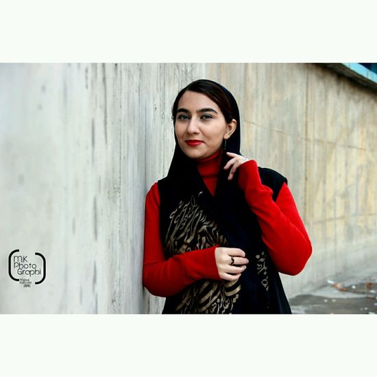 Modeling Face Look Portrait Of A Friend Redlips Red 2015  Tehran First Eyeem Photo Follow Me On Instagram: @mk_photographi