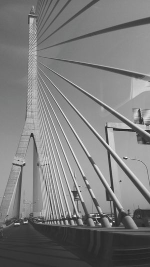 Low Angle View Of Rama Viii Bridge Against Sky