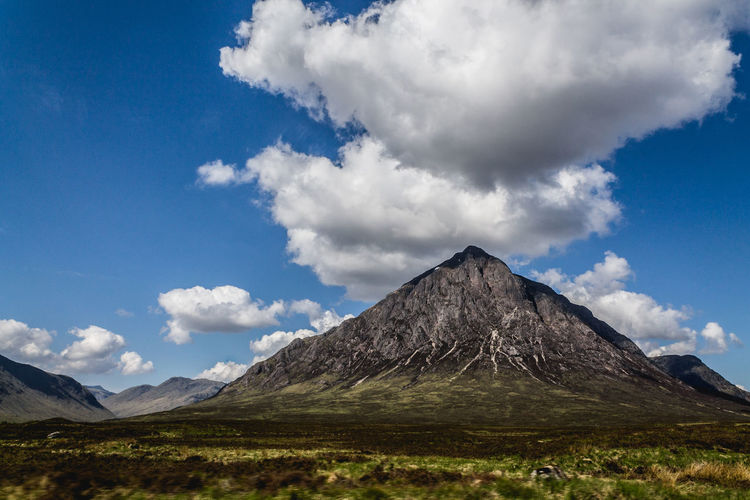 The thoughtful mountain. Beauty In Nature Cloud - Sky Hiking Holiday Landscape Majestic Mountain Mountain Range Nature Nature Photography Non-urban Scene Outdoors Physical Geography Scotland Sky The Great Outdoors - 2016 EyeEm Awards Tranquil Scene Travel Destinations Travel Photography Traveling Trekking United Kingdom Vacation Feel The Journey An Eye For Travel Visual Creativity The Great Outdoors - 2018 EyeEm Awards British Culture