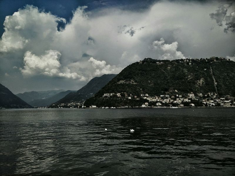 Relax Summer Mountains Nature Lake Como Sky And Clouds