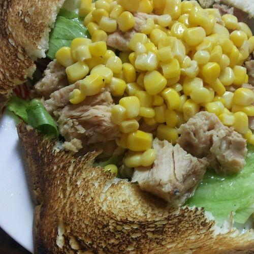 Lebanon Lunch Iceburg Corn Tuna Toast