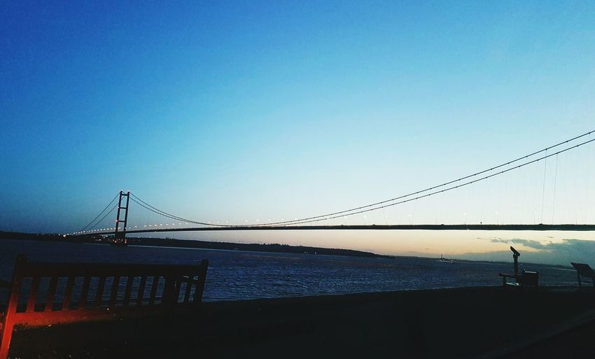 Humber bridge Bridge - Man Made Structure Sea Sky Connection Outdoors Water Clear Sky City Architecture No People Suspension Bridge Best Of EyeEm Eyeemvision Hull City Of Culture 2017 Check This Out Taking Photos River Humber Humber Bridge Showingoff Adventure Club