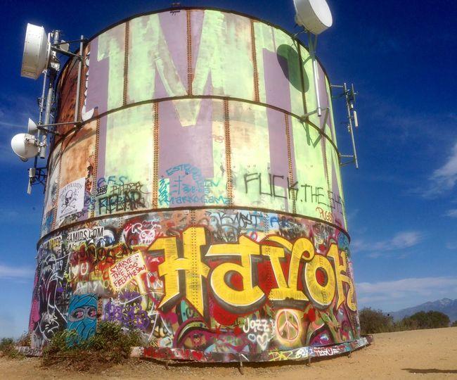Water Tower Hiking Hellman Trail Graffiti