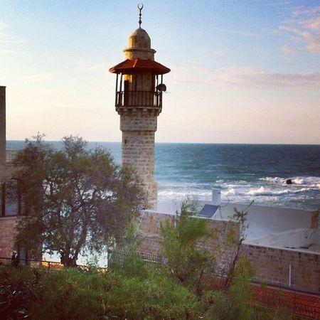 The sea mosque Jaffa Telaviv Mosque Israel sea