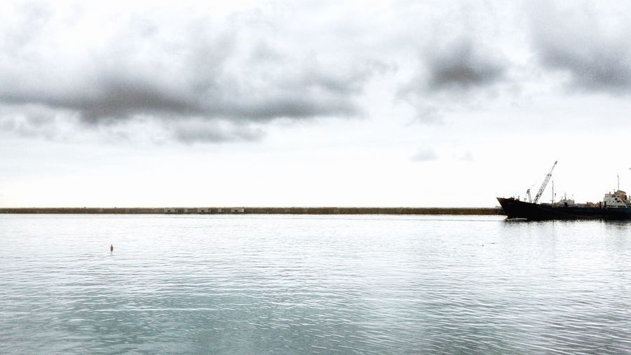 Sea, cloud and