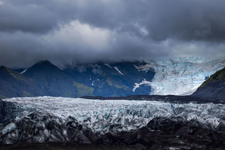 Vatnajökull Glacier, Iceland Beauty In Nature Cloudy Cold Temperature Day Environment Glacier Ice Iceland Landscape Nature No People Outdoors Science Snow Social Issues Wilderness