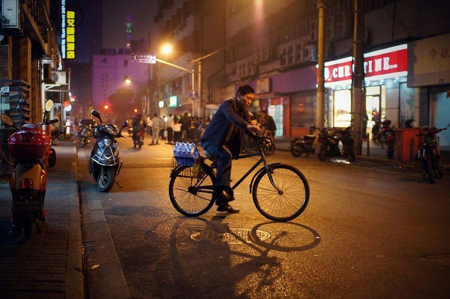 Photo: Shanghai cyclist. 2012. Street Photography Shanghai