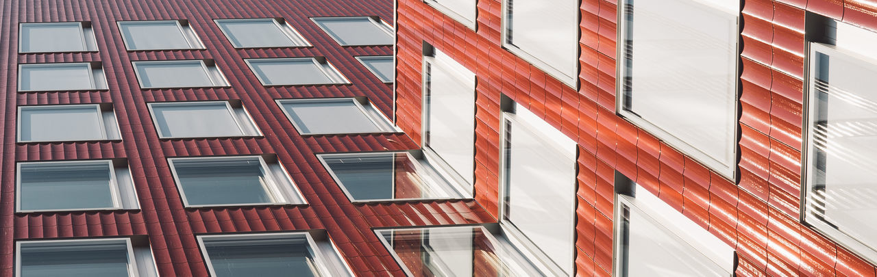 EDGY Zürich Apartment Architecture Backgrounds Building Building Exterior Built Structure City Constantinschiller Full Frame Glass - Material Herrschiller In A Row Low Angle View Modern No People Office Building Exterior Pattern Red Reflection Residential District Skyscraper Sunlight Window Zurich, Switzerland