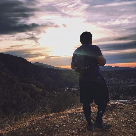 Mountain top. Stolen shot. High on life.