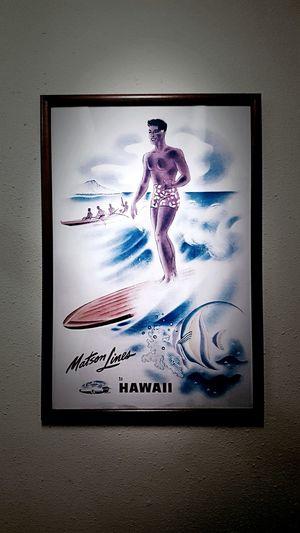 Hawaii Native Surf Surfing Surf Board Poster Hawaiian Kauai Beachporn Waves