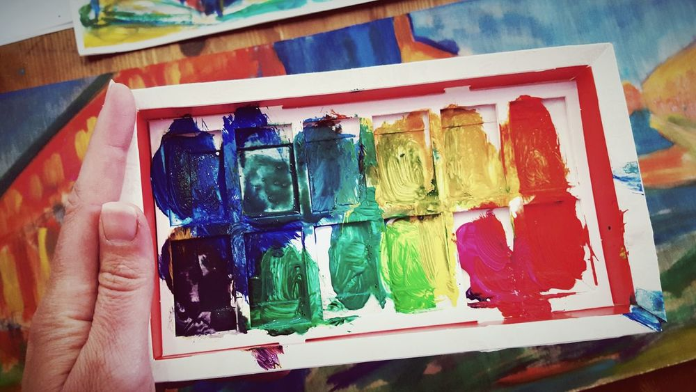 This Is Beauty  day 19. Paint Colour Pallete Painting I Love Colour