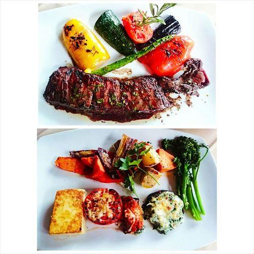 Argentinean Dinner SkirtStake Chimmichurri Vegetable Variety Plate at Malbec Argentinean Cuisine Pasadena