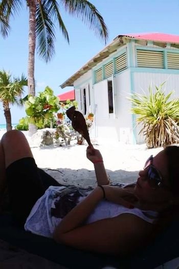 Palm Tree Beach Day Vacations Outdoors Sky Ocean❤ Oceanlifestyle Young Adult One Person Only Women Blissful☀️ Daytime Photography