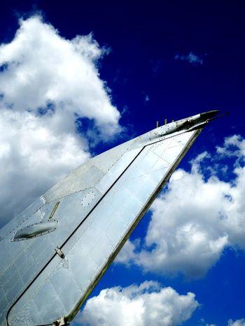 Dessau Technikmuseum Airplane Sky Cloud - Sky Flying No People Travel Blue Festbrennweite Olympus Pen-f Olympus Travelphotography EyEmNewHere 34mm Festbrennweite Hugo-Junkers Junkers