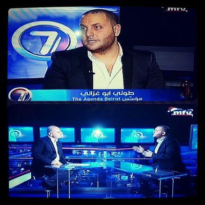 Theagendabeirut now on Mtv @tonyaboughazaly :) Fashion and Lifestyle Boutique academy