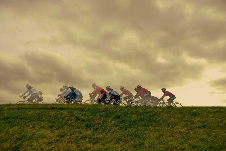 Bicycle Cloudy Dramatic Sky Nijlen Sky
