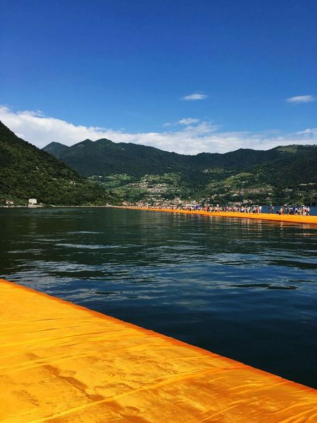 The Floating Piers Christo Sulzano Lake View Art Photography Nature Photography Point Of View