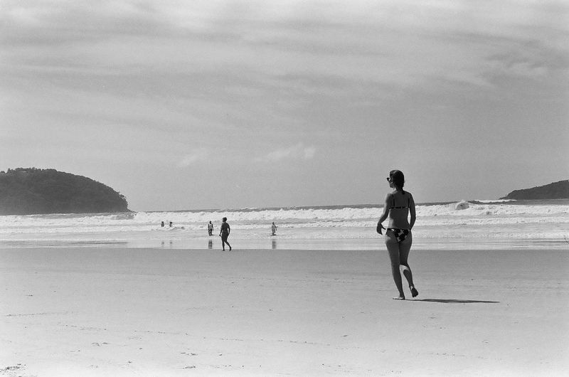 analog beach 35mm Film Analogue Photography Film Analog Pentax Film Photography Ilford Film Is Not Dead Filmisnotdead The Week on EyeEm Love Yourself Ilford HP5 Plus Sand Sea Walking Full Length Outdoors Nature Beauty In Nature Sky Water
