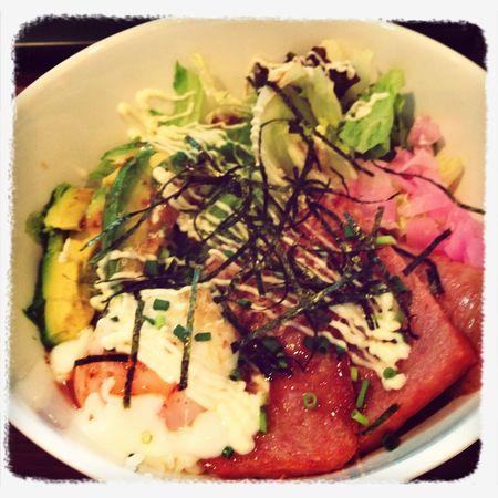 Spam & avocado rice ball
