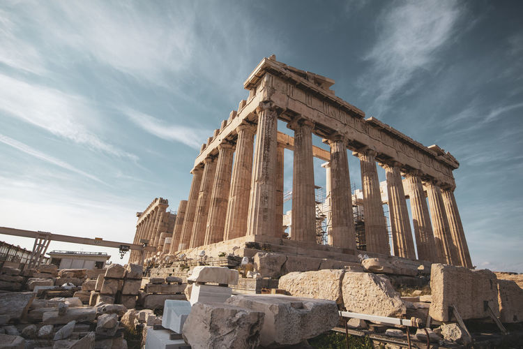 Acropolis Athens Greece Acropolis History The Past Sky Architecture Ancient Old Ruin Ancient Civilization Built Structure Cloud - Sky Travel Destinations Tourism Architectural Column Travel Nature Place Of Worship Archaeology Ruined Day Low Angle View Outdoors No People