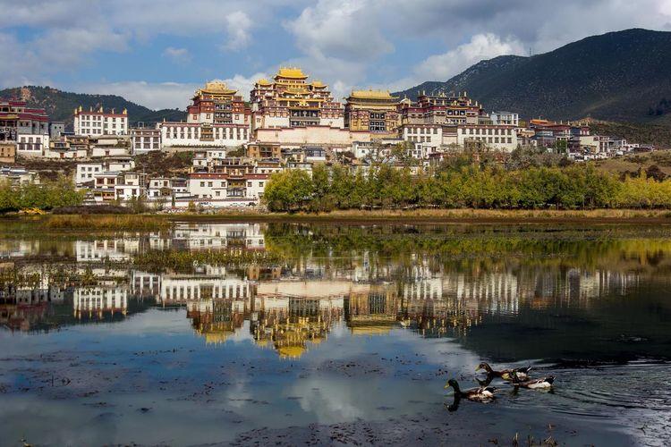 Buddist monastery just outside of Shangrila China. Monastery Reflection Tibetan Buddhism Travel Photography Yunnan, China China Religion Shangrila