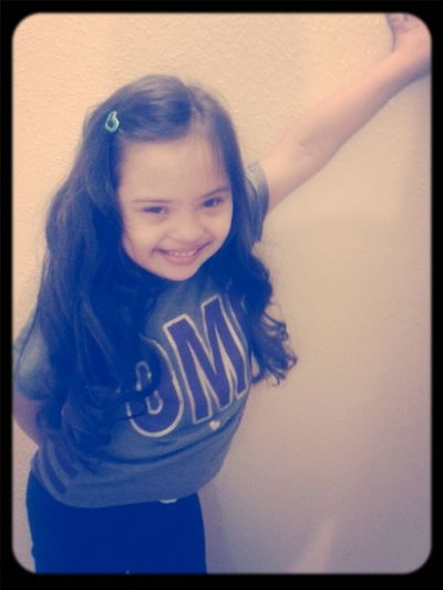 My Little Sister And Her Curly Hair;)