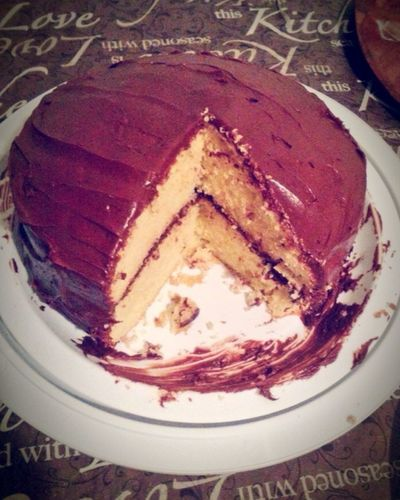 Desert Beauty Chocolate Cake♥ Layeredup Two Layers Chocolate♡ I Love Chocolate! Yummy♡ Delicious What's For Desert?