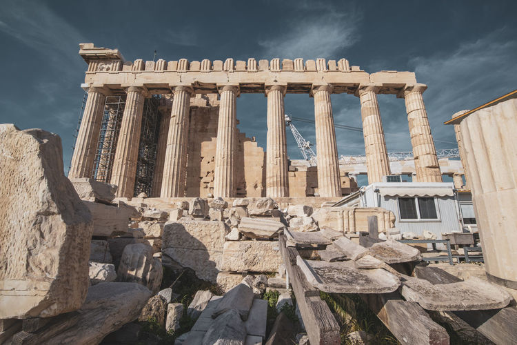 Acropolis Athens Greece Acropolis Architecture Ancient History The Past Built Structure Ancient Civilization Old Ruin Sky Travel Destinations Travel Architectural Column Tourism Nature Building Exterior Archaeology Place Of Worship Day No People Cloud - Sky Ruined Outdoors