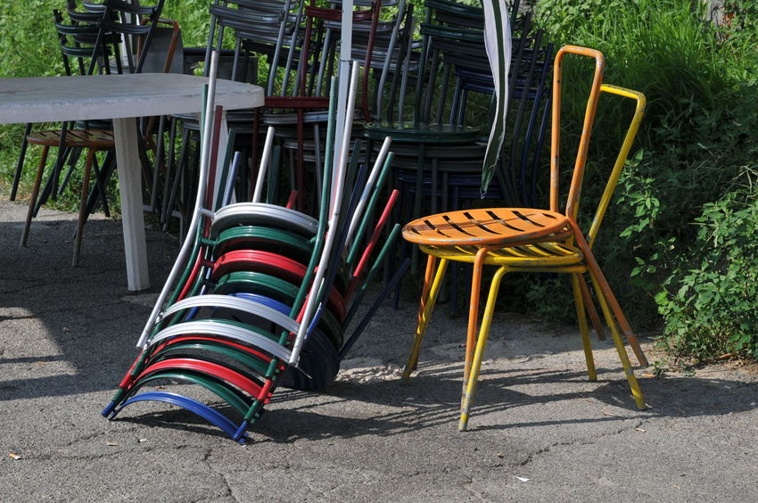 Bar Chair Chairs Colors Day Empty In A Row Lieblingsteil Murazzi Di Torino No People Outdoor Outdoor Chair Outdoors Sun