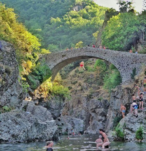 Naturelovers Beautiful Nature Jump Pont Du Diable Ardeche France Paradise Morceau De Vie Thuyets Jumpshots