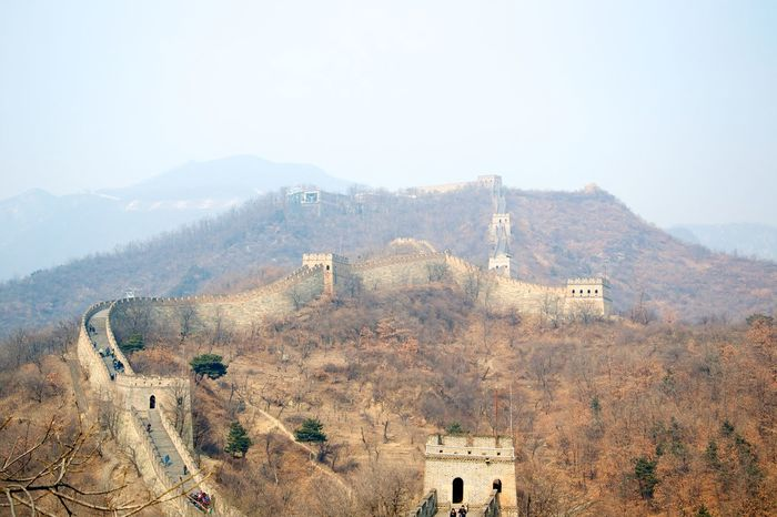 Ancient Ancient Civilization Architecture Building Exterior Built Structure Chinese Wall History Landscape Mountain Mountain Range Outdoors Travel Destinations Wall Of China
