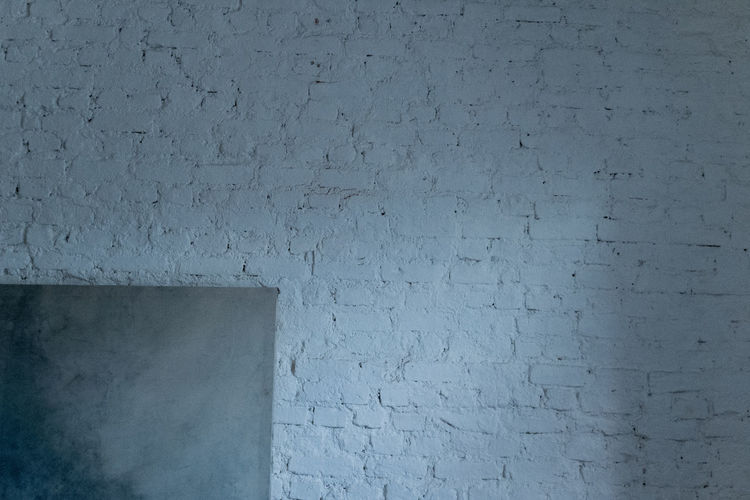 Wall - Building Feature Architecture Built Structure Textured  Wall No People Blue Backgrounds Copy Space Pattern Brick White Color Day Close-up Building Exterior Brick Wall Outdoors Full Frame Gray Rough Concrete Stone Wall Cement White Brick Wall