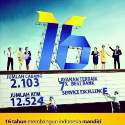 """HAPPY BIRTHDAY 16Th "" DIRGAHAYU KE 16 PT.BANK MANDIRI (Persero) Tbk. To Be Indonesia's and Southeast Asia's Most Admired And Progresive Financial institution To Be Best Bank in Asia 2020 Selamat Ulang Tahun Bank Mandiri yang Ke-16 Semoga Moto Bank Mandiri saat ini ""Spirit Memakmurkan negeri"" Semoga bank mandiri tetap konsisten dalam peran sertanya dalam pembangunan dan kemajuan bangsa. Menopang perekonomian bangsa sehingga meningkatkan fundamental ekonomi masyarakat. Semoga Bank Mandiri selalu konsisten dengan berbagai prestasi yang telah diraih. Bankmandiri Ultah Birthday 2oktober Finansial Banking Money Dirgahayu Pt  .bankmandiri UlangTahun Perbankan Jobs Work INDONESIA Instagram Instapeople Instanusantara Pekanbaru Pku Ihsanvanjava EDC Atm Debit Kredit Finance sumatera bestbank services riau"
