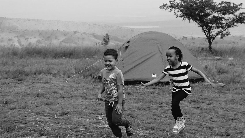 Up hill in Rwanda Kids Being Kids Running Around Camping My Niece