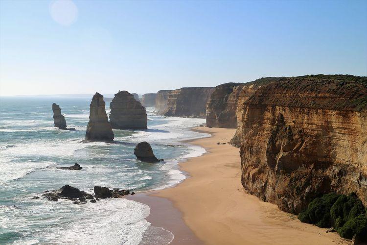 Twelve apostles sea rocks