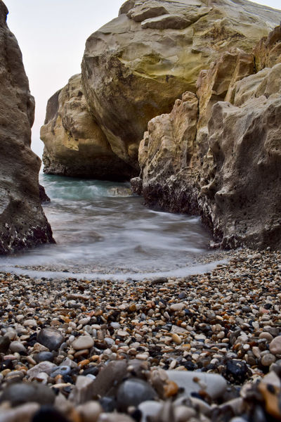 Beach Beauty In Nature Day Fossil Landscape Long Exposure Nature Nikond3300 No People Outdoors Pebble Rock - Object Rocks Rocky Coastline Sand Scenics Sea Sea And Sky Summer Tranquil Scene Tranquility Travel Vacations Vertical Wave