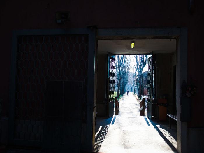 Open doors of house