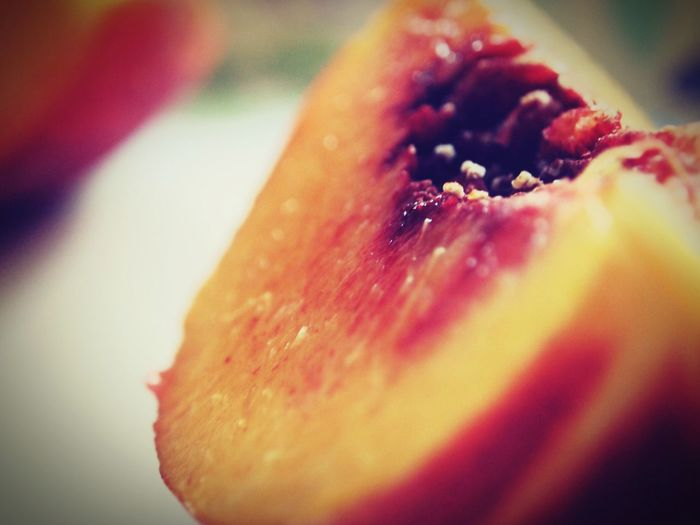 Feeling Peachy. Extreme Close-up Fruit Vibrant Color Selective Focus Healthy Eating Food Close-up Freshness Ready-to-eat Indulgence Americanartisan KayleeJames