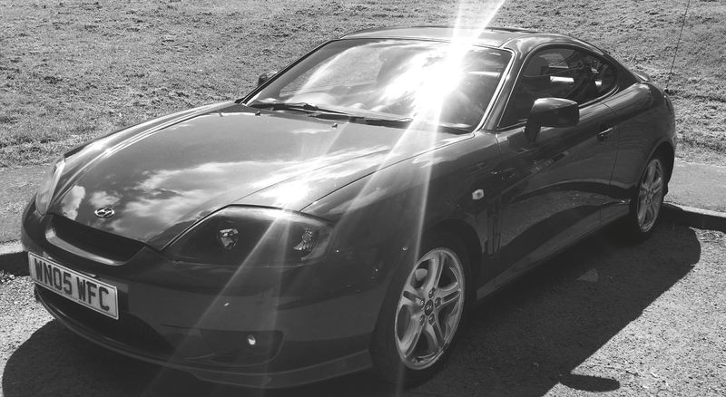 Taking Photos Car Porn Hyundai Coupe Gloucestershire UK Love My Car Black And White Polished Car