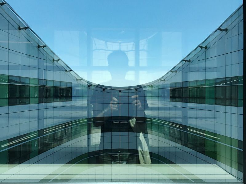 Architecture Built Structure Reflection Glass - Material Modern Day Building Exterior Symmetry Building Sky Wall - Building Feature City Transparent Pattern