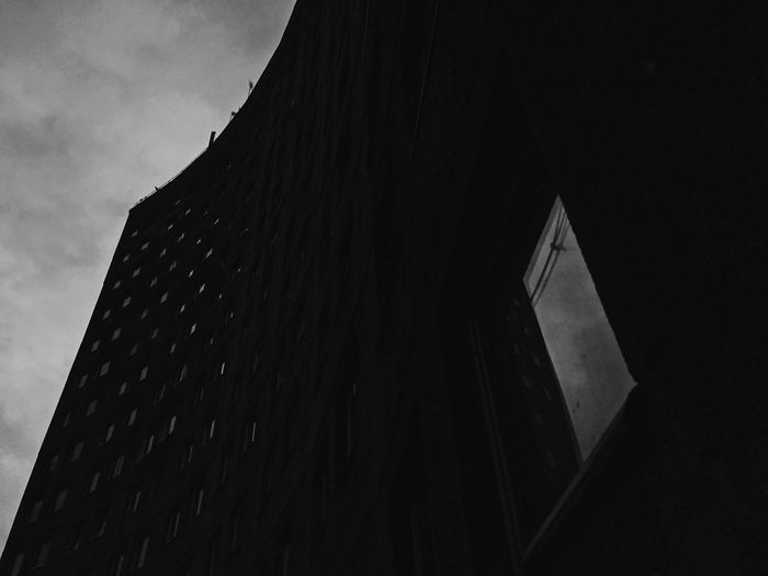 Black And White Blackandwhite Built Structure Building Exterior Low Angle View Architecture No People Sky Building Wall - Building Feature Close-up Tower Pattern Office Tall - High Outdoors City Dusk Sunlight Day Nature Office Building Exterior