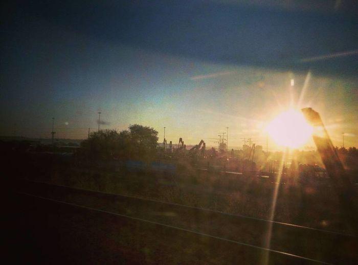 Sun in sky at sunset