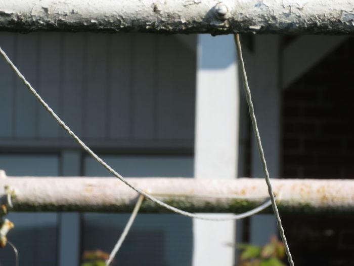 String Hanging Close-up Built Structure Clothesline