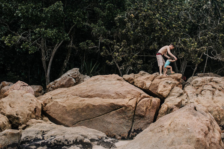 Her first adventure Brazil Rio De Janeiro Adventure Balance Beach Challenge Child Childhood Climbing Father And Daughter Nature Paraty Parenting Real People Rock Climbing Rocks Toddler  An Eye For Travel The Traveler - 2018 EyeEm Awards
