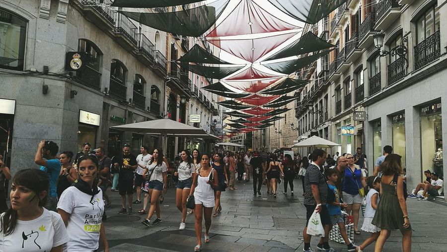 Large Group Of People Person Architecture City Building Exterior Lifestyles City Life Street Walking Famous Place Pacma Madrid, Spain City Street Empty Place Colour Of Life Preciados