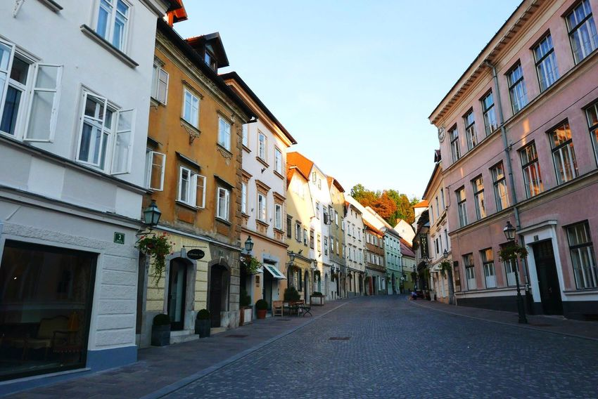 Slovenia Ljubljana Architecture City Street Building Exterior House Road No People Evening